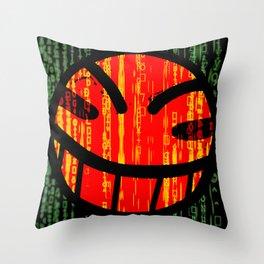 Cowboy Bebop Hacked Smile Throw Pillow
