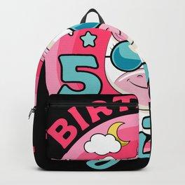 Birthday Unicorn 5 Year Gift Backpack