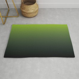 Ombre | Color Gradients | Gradient | Two Tone | Lime Green | Charcoal Grey | Rug