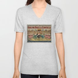 1896 Ringling Brothers Big Top Circus 'Dance of the Fairies' Vintage Poster Unisex V-Neck