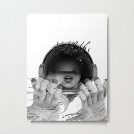 Space Noir Metal Print
