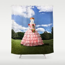 Semolina Sheep on Her Way to the Ball Shower Curtain