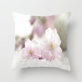 Delicate and fliligrane flowering of the almond tree Throw Pillow