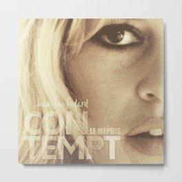 Brigitte Bardot, Contempt, movie poster, Le Mépris, Jean-Luc Godard, Fritz Lang, Metal Print