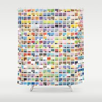 pantone Shower Curtains featuring Complete Poke-Pantone  by Zeke Tucker