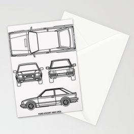 Escort Mk 3 XR3i Stationery Cards