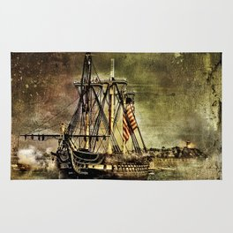 Tall ship USS Constitution Rug