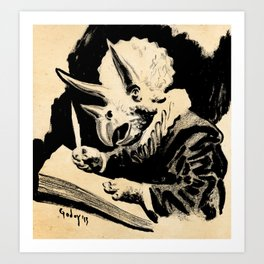 Triceratops Van Rijn Art Print