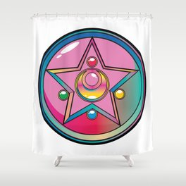 Magical Moon Neon Compact Shower Curtain