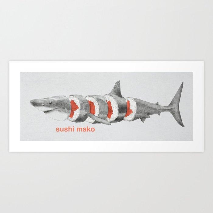 Sushi Mako Art Print