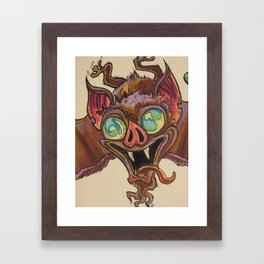 bat shite Framed Art Print