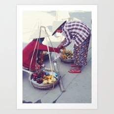 Fruit Sellers, Hoi An.  Art Print