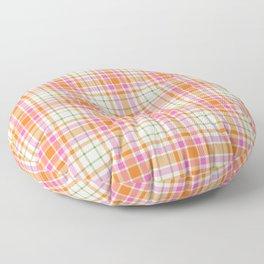 Summer Plaid Pink Orange Green White Floor Pillow