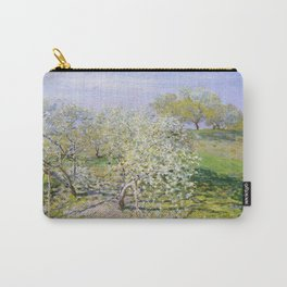 Claude Monet - Apple Trees In Bloom Carry-All Pouch
