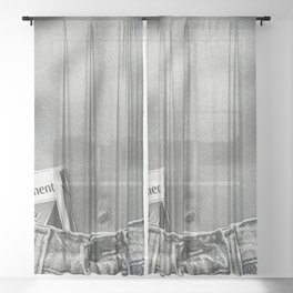 Pack of Parliament's, Bare Midriff black and white photograph / photography Sheer Curtain