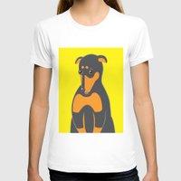 doberman T-shirts featuring Doberman by ununuctio
