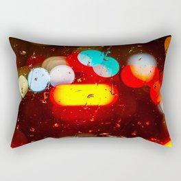 Colored Rain  Rectangular Pillow
