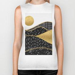 Gold Sun, digital surreal landscape Biker Tank