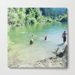 summer photography, beach photography, beach, swim hole, Landscape, Sonoma County, Russian River, Ri Metal Print