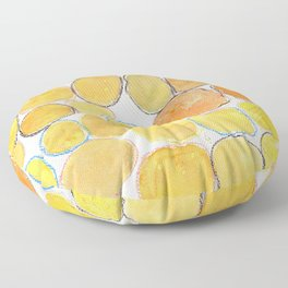 Cheerful orange Gathering Floor Pillow