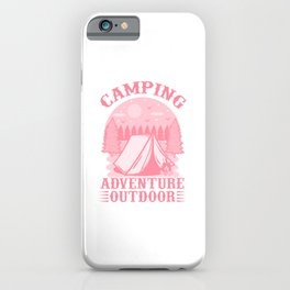 Camping Adventure Outdoor pw iPhone Case