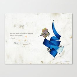 Arabic Calligraphy - Rumi - Journey Into Self Canvas Print