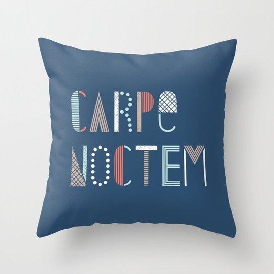 Carpe Noctem Throw Pillow