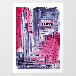 Purple colored rain Art Print