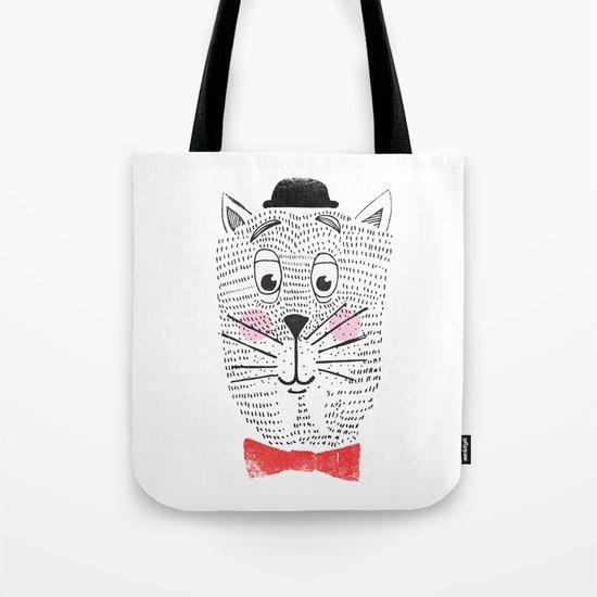 CAT IN A BOWTIE Tote Bag