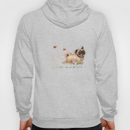 The Furminator pug watercolor like art Hoody