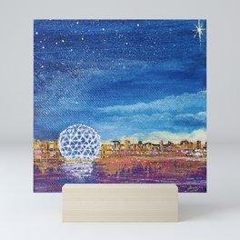 YVR Cityscape  Mini Art Print
