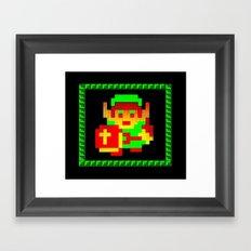 The Legend of Zelda (Link with Shield) Framed Art Print