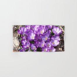 Watercolor Flower, Purple Crocus 01, Washington D.C., Spring Delights! Hand & Bath Towel