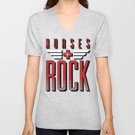 Nurses ROCK Unisex V-Neck