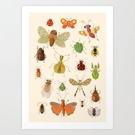 Encyclopédie des insectes  Art Print