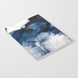 White Sand Blue Sea - Alcohol Ink Painting Notebook