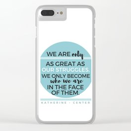 STRUGGLES Clear iPhone Case