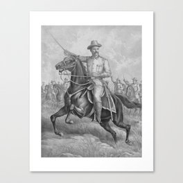 Colonel Roosevelt Leading Troops Canvas Print