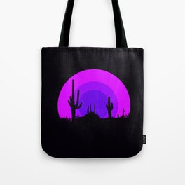 psychedelic desert Tote Bag