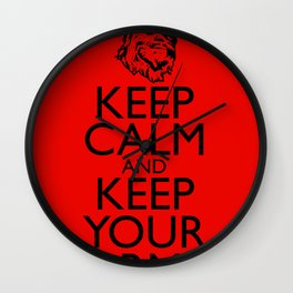 Keep Calm and Keep your Arms Wall Clock