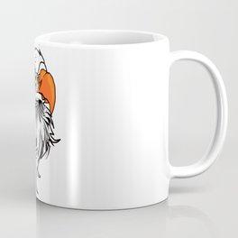 Cartoon Eagle Face Coffee Mug