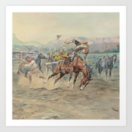 C.M. Russell The Tenderfoot Art Print