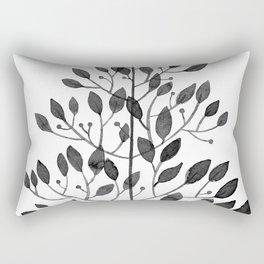 black sprig drawn in ink Rectangular Pillow