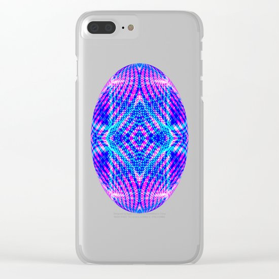 psychedelic lines Clear iPhone Case