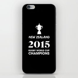 New Zealand 2015 Rugby World Cup Champions iPhone Skin