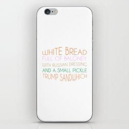 Trump Sandwhich iPhone Skin