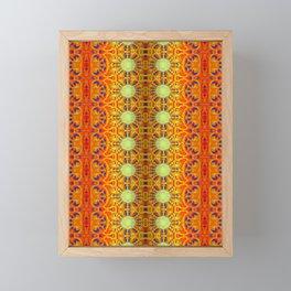 B Bloom Pattern Orange Framed Mini Art Print