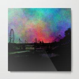 Psychedelic Thames skyline Metal Print