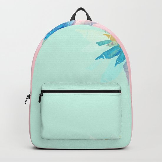 Floral Mint Pink Backpack