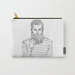 Beard Man with a Pipe Carry-All Pouch
